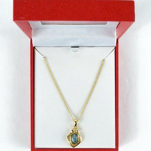 Jewelry - 3/$20 Australian Opal Gold Tone Opal Necklace